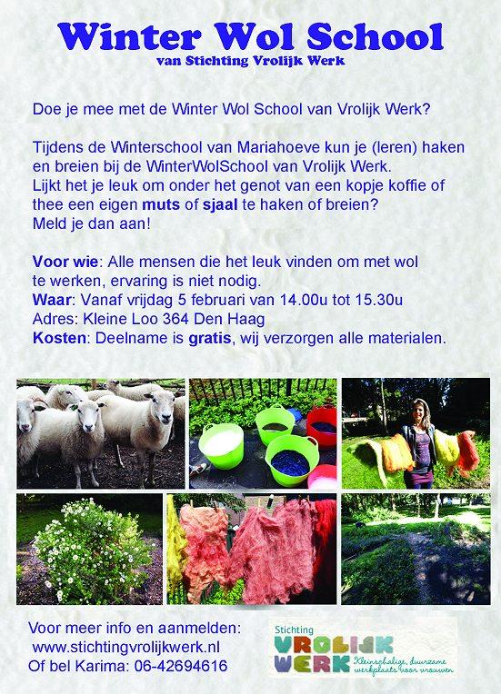 5 Feb Stichting Vrolijk Werk Winter Wol School Mariahoeve Den Haag